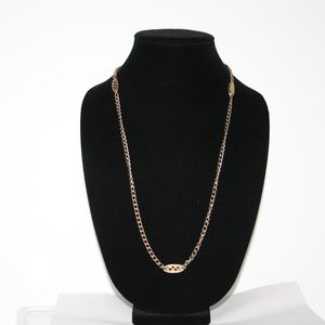 """Long vintage gold chain necklace 52"""""""